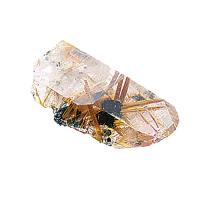 Rutilated Quartz (gold, red, black)